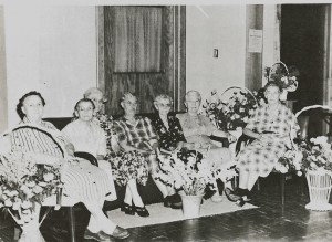 The first residents at the Vinton Lutheran Home in 1952.