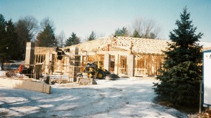 Construction of Vinton's Assisted Living Apartments.