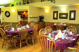 Meals are served in the Dining room three times a day at the Davenport Assisted Living Apartments